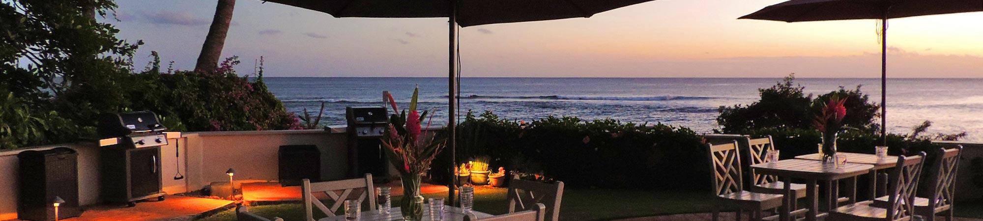 alihi lani poolside tables sunset