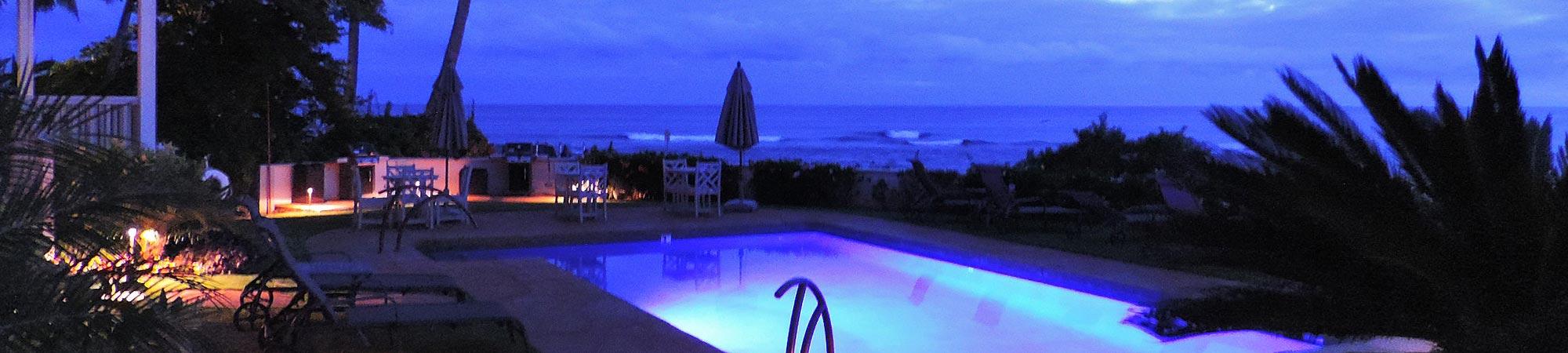 alihi lani pool ocean view twilight